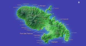 La Martinique est entourée par l'océan atlantique et par la mer des caraïbes